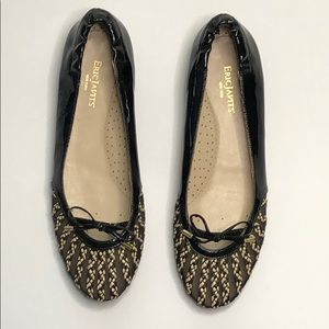 Eric Javits' New York Black Patent Flats sz 10 New